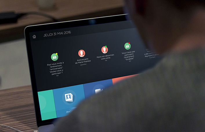 actimage application social personne agée HTML R&D développement