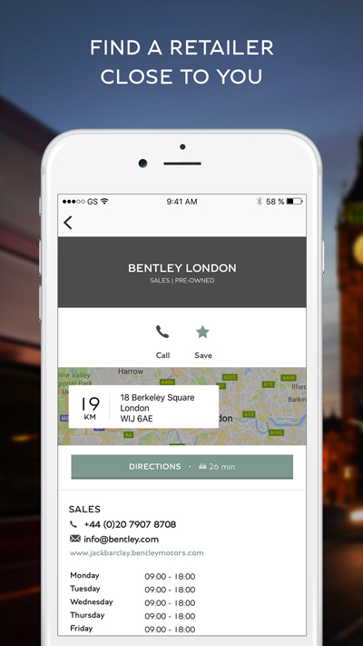 actimage bentley réseau social UX UI application mobile smartphone