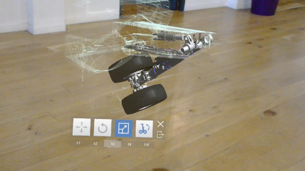Actimage Safran Landing Systems HoloLens Réalité Mixte