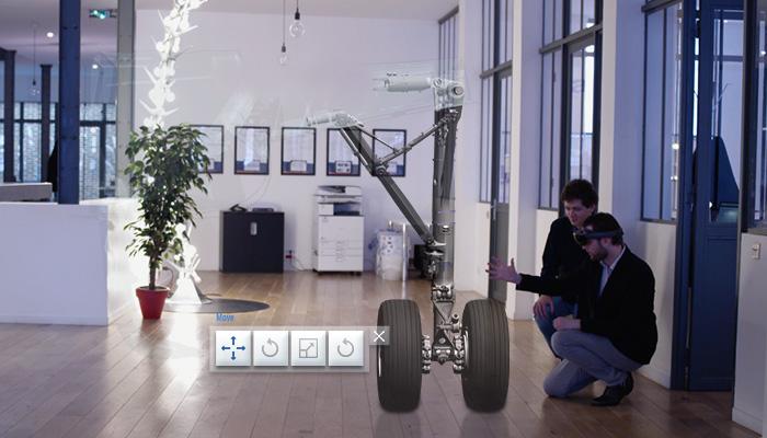 Actimage hololens pour présentation réalité virtuelle mixte aéronautique VR