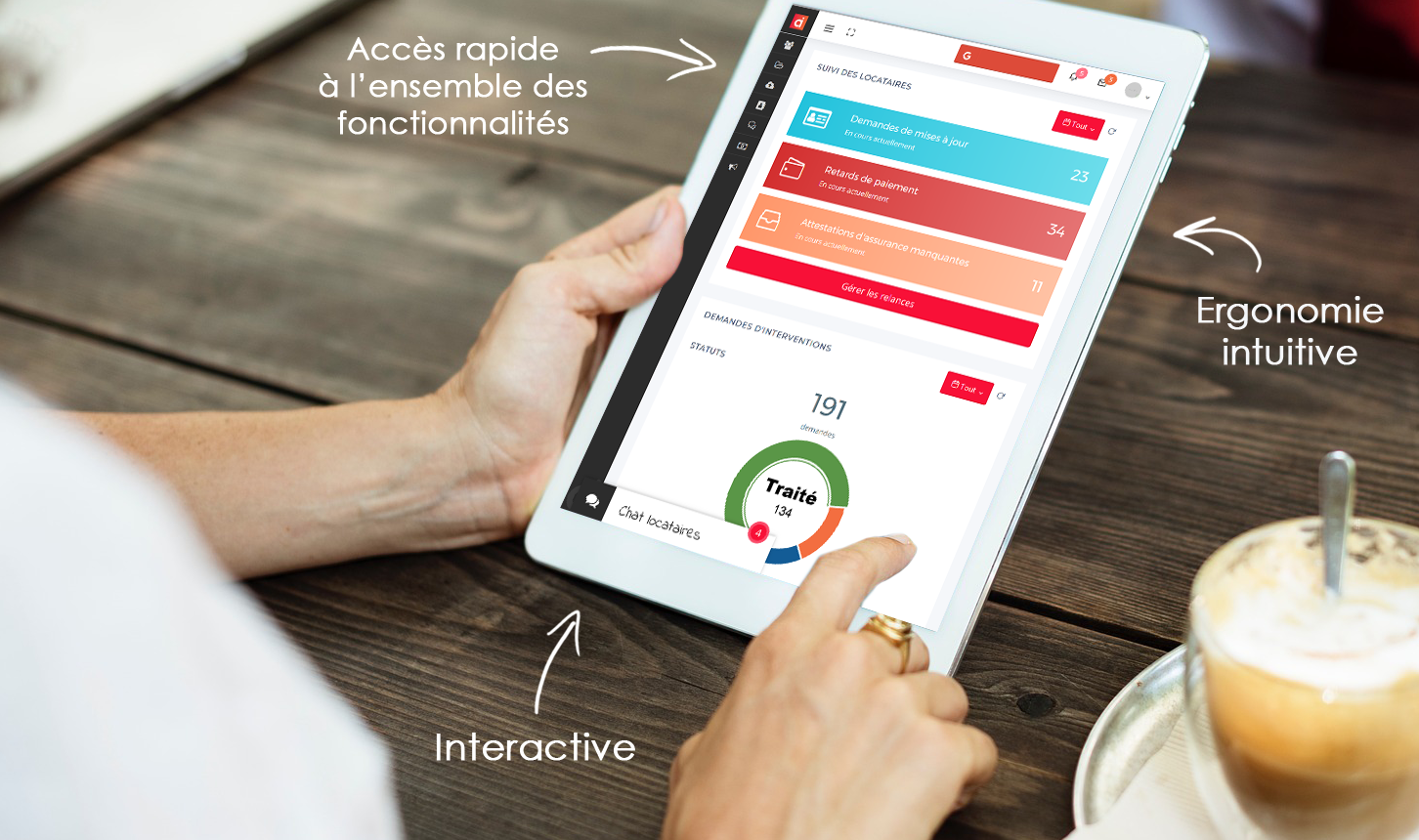 ActiLoc tablette mock-up extranet transports